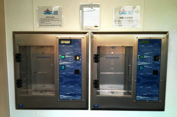 Self-serve water dispenser